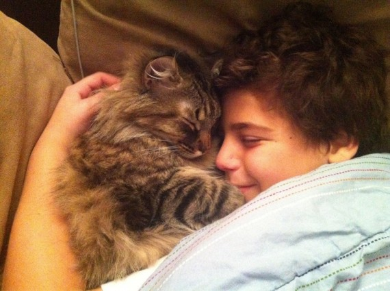 """7) """"My son wasn't feeling well, so Cosmo came to the rescue."""""""