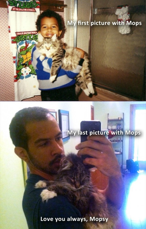 """17) """"My first and last picture with Mopsy"""""""