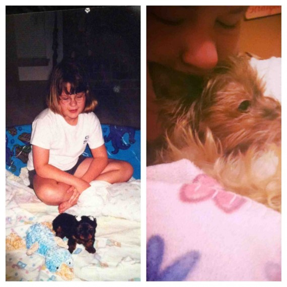 """4) """"My dog passed away after 13 years together. Our first day and last day together."""""""