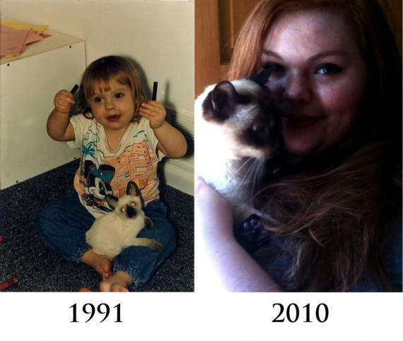 "9) ""Our first and last pictures together. Mortimer, 1991-2010."""