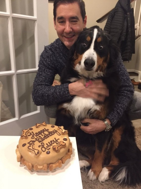 """I thought ordering my dog a birthday cake would be a waste of money... Her reaction was worth every penny."""